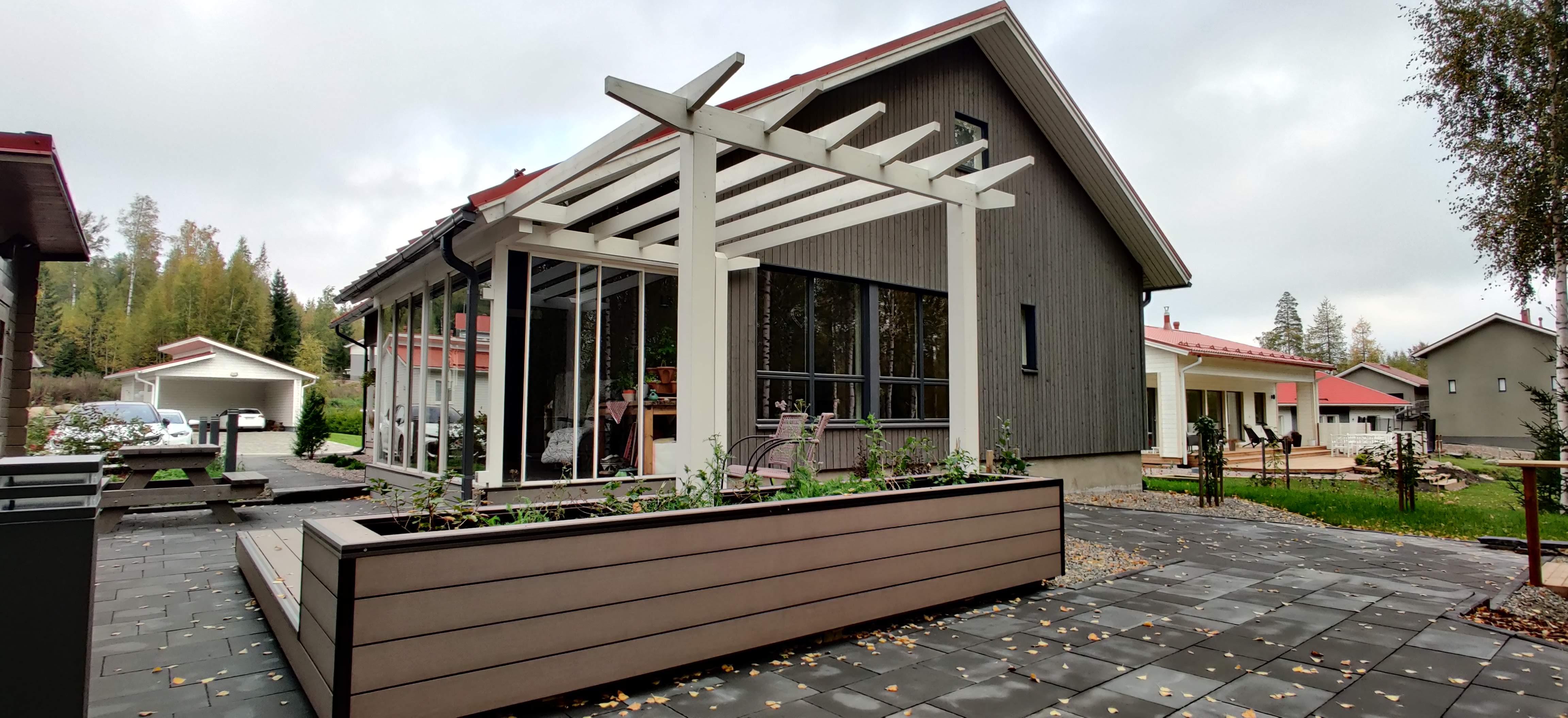 Omakotitalon rinnepiha, Riihimäki, 2020